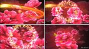 xl35.喜庆盛世牡丹花民歌民族舞蹈婚礼背景鸡年春节晚会视频
