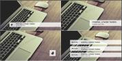干净方正的简约式扁平化字幕条进出动画AE工程,2色入