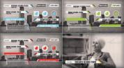 AE模板 鲜艳明亮流行时尚的字幕导条AE工程,4色入免费下载