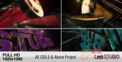 AE模板-时尚LED文字Logo动画 LED Studio Logo