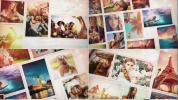 AE模板美好的拼贴组合式照片展示墙美好纪念旅行电子相册