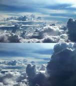 云层之上的美丽天空风景视频素材天空蓝天白云云朵天堂晴