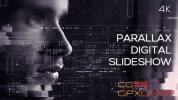 AE模板-神秘科技感图形视差图片展示片头 Parallax Digital Slidesho