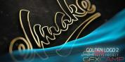 AE模板-金色路径描边Logo文字动画 Gold Logo