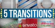 AE模板-5组图形视频转场动画 Transitions