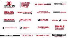 AE模板-时尚MG文字标题动画 Modern Titles II