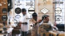 AE模板时尚标志LOGO徽章标题动画 Barbershop Badges