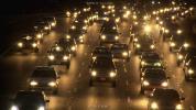 美国洛杉矶夜晚的城市车流高清实拍视频素材免费下载