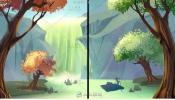 简单唯美的森林插画制作视频教程
