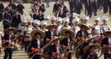 苗族风情盛大节日实拍视频素材免费下载