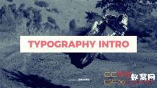 AE模板-文字排版标题图片快闪片头 Typography Intro