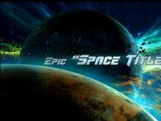 AE模板-大气宇宙星球穿梭文字片头动画