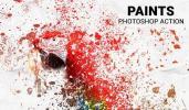 美丽的油漆涂料分散艺术特效PS动作