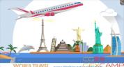 AE模板-旅游景点建筑MG动画片头 World Travel
