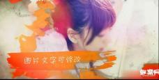 BH03清新彩色水墨旅行时尚水彩相册电子相册图文展示片头ediu