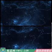 T01震撼蓝色科技感粒子星空背高清LED景视频素材