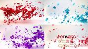 AE模板-玫瑰花瓣转场Logo动画 Petals Logo Reveal
