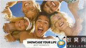 AE模板-笔刷遮罩照片相册幸福回忆片头 Happy Life Moments – Animated Brushes Slideshow