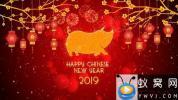 AE模板-热闹新年猪年相册片头 Chinese New Year 2019