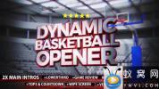 AE模板-篮球体育栏目包装片头 Dynamic Basketball Opener Intro