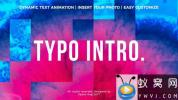 AE模板-图形切割文字标题快闪开场 Typo Intro