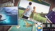AE模板-桌面相册旅游视频照片开场 Travel Video