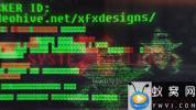 AE模板-黑客代码Logo动画 Hacker Logo