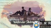 AE模板-清新水彩遮罩片头 Ink Watercolor Slideshow Opener
