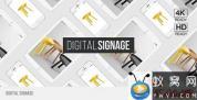 AE模板-手机平板排列运动展示动画 Digital Signage