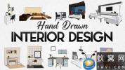 AE模板-室内家具卡通手绘动画 Hand Drawn Interior Designs
