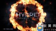 AE模板-大气三维文字视频宣传片头 Hybrid Cinematic Trailer