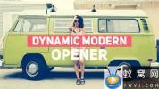 AE模板-节奏感文字图片快闪片头 Dynamic Modern Opener