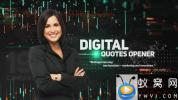 AE模板-科技感人物介绍开场 Digital Quotes Opener