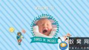 AE模板-可爱卡通儿童婴儿照片相册片头 Kids Slideshow