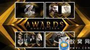 AE模板-金色颁奖包装宣传片头 Awards Show