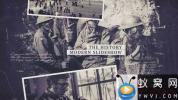 AE模板-复古历史时间线照片相册片头 The History Slideshow