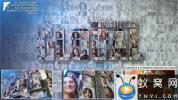 AE模板-三维商务照片墙汇聚Logo动画 Corporate Mosaic Logo