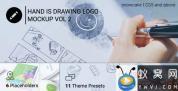 AE模板-实拍素描手绘Logo动画 Hand Is Drawing Logo Mockup Volume 2