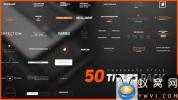 AE模板-简洁商务文字标题动画 50 Stylish Corporate Titles Pack