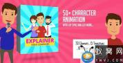 AE模板-简单卡通人物角色MG动画 Character Animation Composer – Explainer Video Toolkit