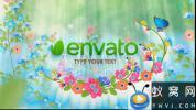 AE模板-春天蝴蝶植物开花Logo动画 Spring Logo