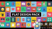 AE模板-50个生活扁平化图标ICON动画 Flat Design Pack