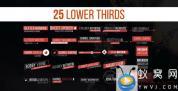 AE模板-25组人名字幕条动画 Lower Thirds