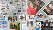 AE模板-家庭照片墙相册视频片头 3D Photos Slideshow