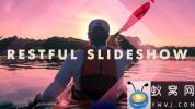 AE模板-图形遮罩旅游图片开场 Restful slideshow