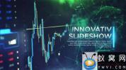 AE模板-科技感点线背景视频片头 Innovative Slideshow