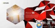 AE模板-多边形折叠商务包装片头 Corporate Polygon Presentation