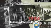 AE模板-黑白历史照片相册片头 History Opener