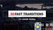 AE模板-图形切割视频转场 Fast Transitions