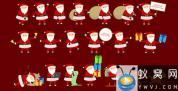 AE模板-卡通圣诞老人动画 Santa Animation & Greetings